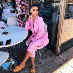 Zara Women pink button blazer NWT, size Small